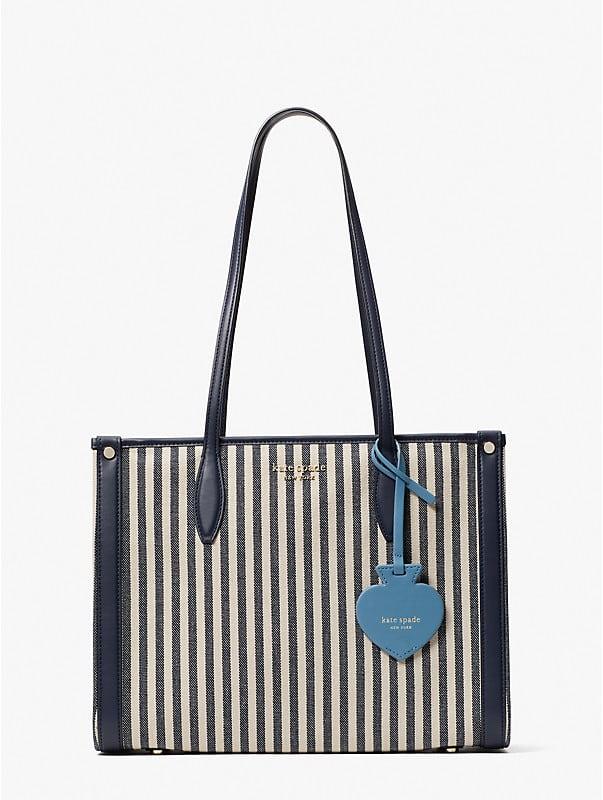 Market Tote Bag mit Streifen, mittelgroß, , rr_large