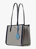 Market Tote Bag mit Streifen, mittelgroß, , s7productThumbnail