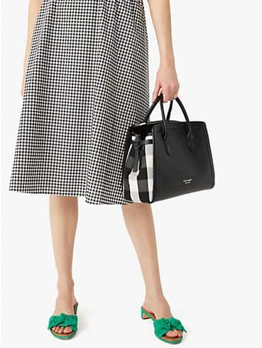 knott gingham large satchel, , rr_productgrid