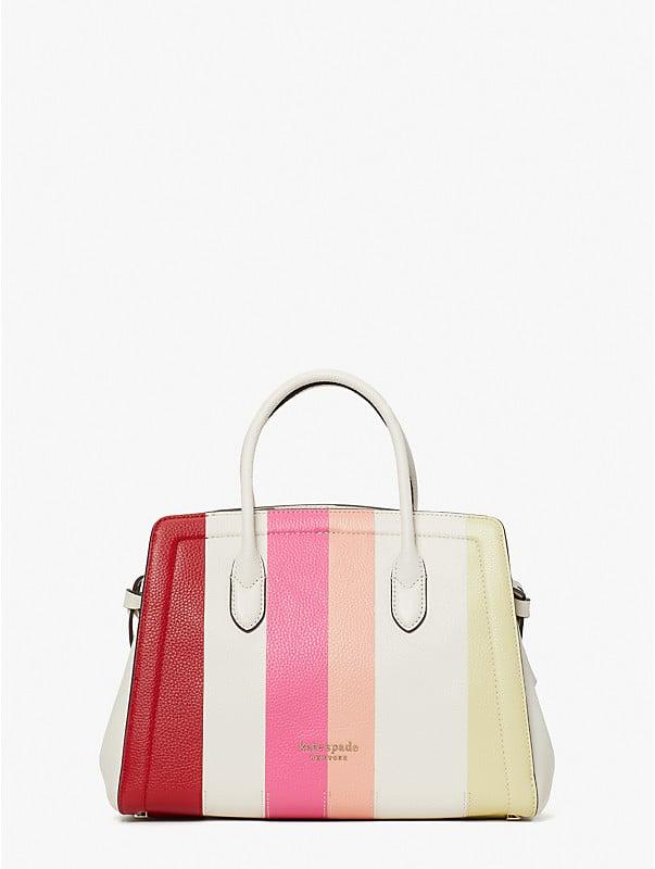 knott stripe medium satchel, , rr_large