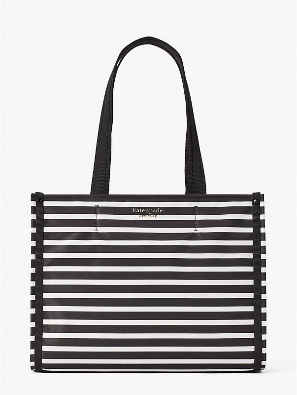 the little better sam stripe medium tote, , rr_large