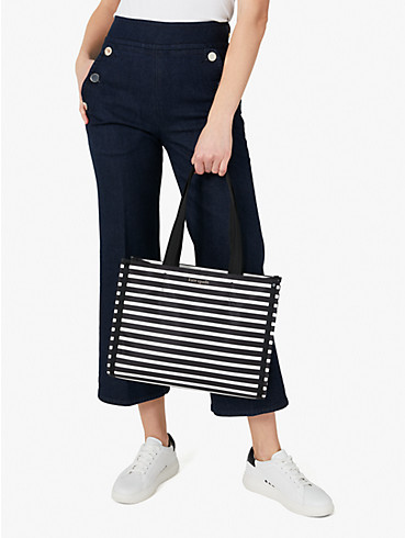 the little better sam stripe medium tote, , rr_productgrid
