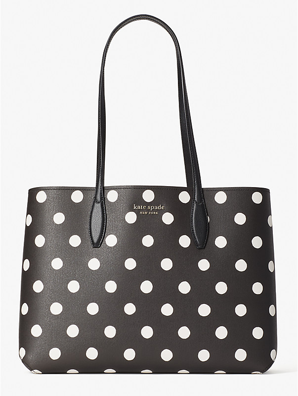 all day sunshine dot large tote, , rr_large
