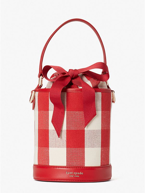 picnic gingham small bucket bag, , rr_large