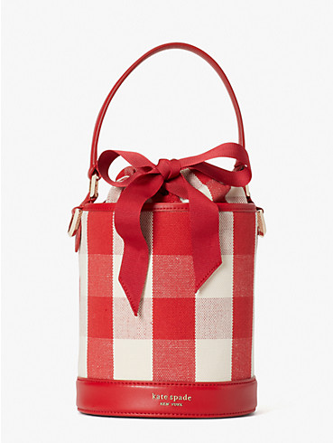 picnic gingham small bucket bag, , rr_productgrid