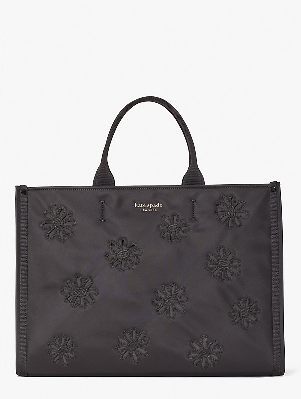 the little better sam embroidered nylon large tote, , rr_large