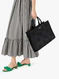 the little better sam embroidered nylon large tote, , s7productThumbnail