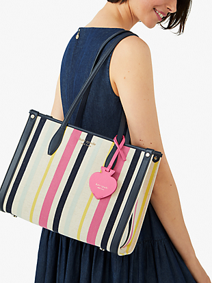 market stripe medium tote by kate spade new york hover view