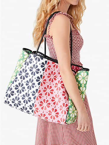 spade flower raffia everything extra-large tote, , rr_productgrid