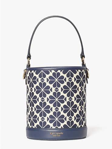 spade flower jacquard picnic small bucket bag, , rr_productgrid