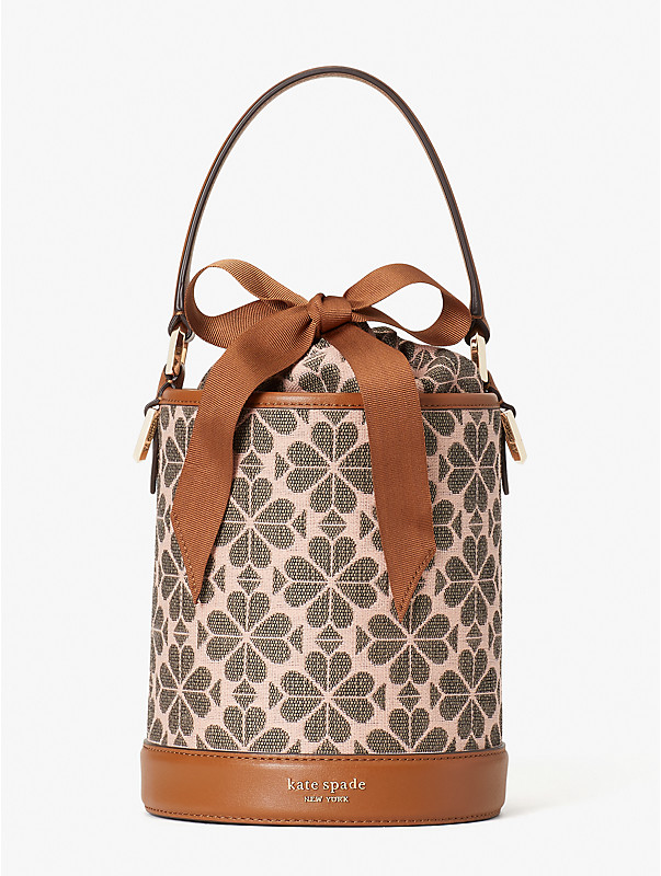 spade flower jacquard picnic small bucket bag, , rr_large