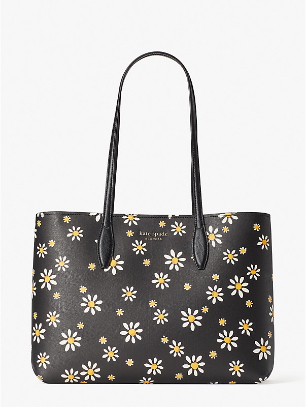 all day daisy dots large tote, , rr_large