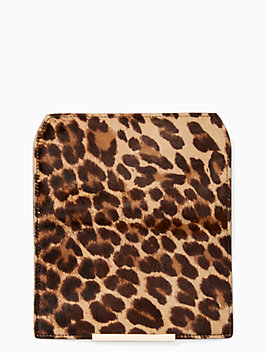 make it mine leopard-print haircalf flap, multi, medium