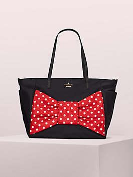 kate spade new york x minnie mouse bethany baby bag, black, medium