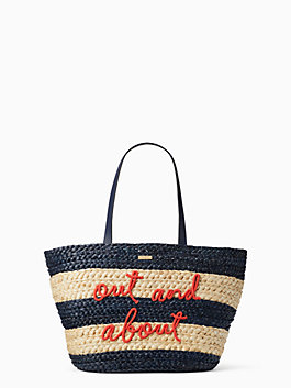 shore thing out and about straw tote, multi, medium