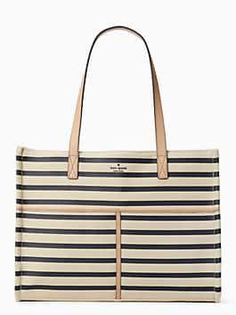 washington square mega sam, rich navy stripe, medium