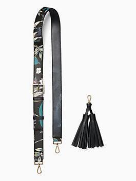 make it mine botanical strap tassel, black multi, medium