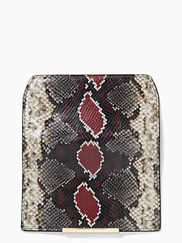 make it mine reese park snake-embossed flap, multi, medium