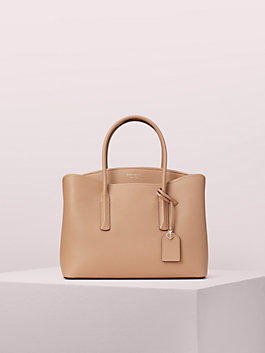 margaux large satchel, light fawn, medium