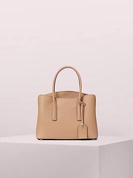 margaux medium satchel, light fawn, medium