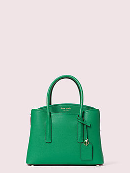 margaux medium satchel, green bean, medium