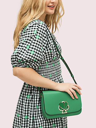 nicola twistlock medium shoulder bag by kate spade new york hover view
