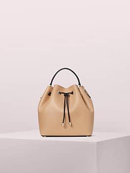 vivian medium bucket bag, lightfawn, medium
