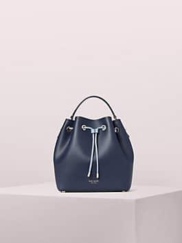 vivian medium bucket bag, blazer blue, medium