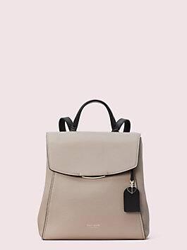 grace medium backpack, warm taupe/black, medium