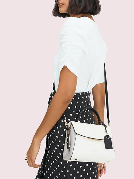 grace small top-handle satchel, parchment multi, productThumbnail