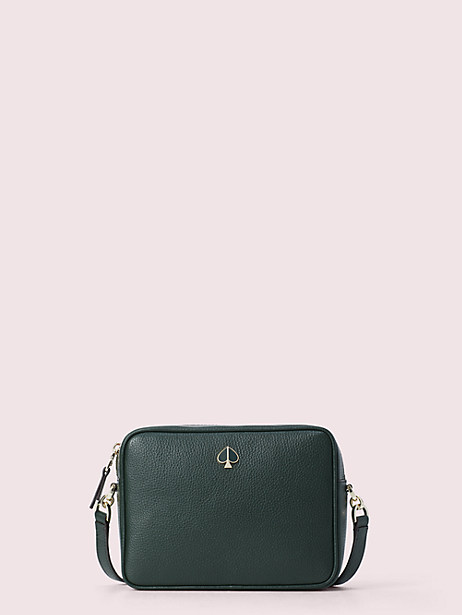 polly medium camera bag, deep evergreen, large by kate spade new york