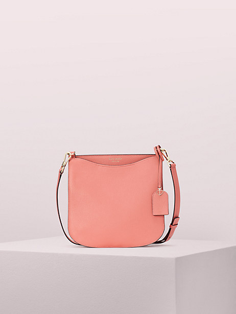 margaux large crossbody, peachy, large by kate spade new york