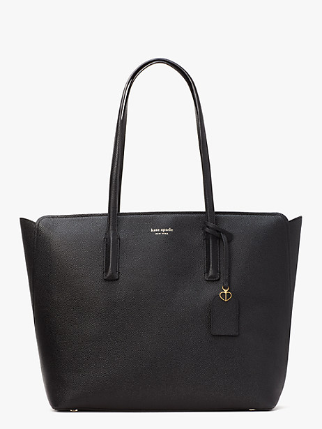 margaux large tote, black, large by kate spade new york