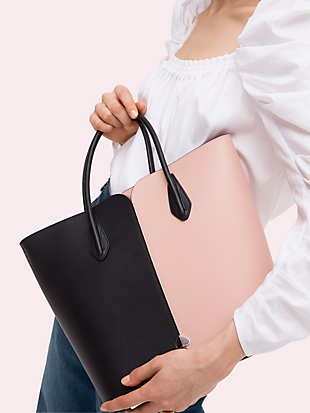 nicola bicolor large tote by kate spade new york hover view