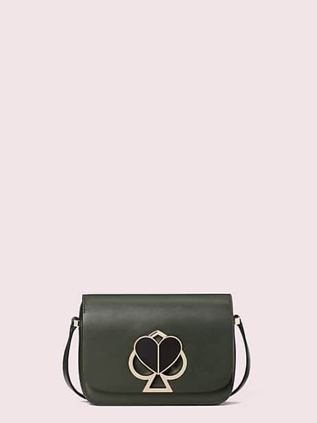 nicola twistlock small shoulder bag, evergreen, large by kate spade new york