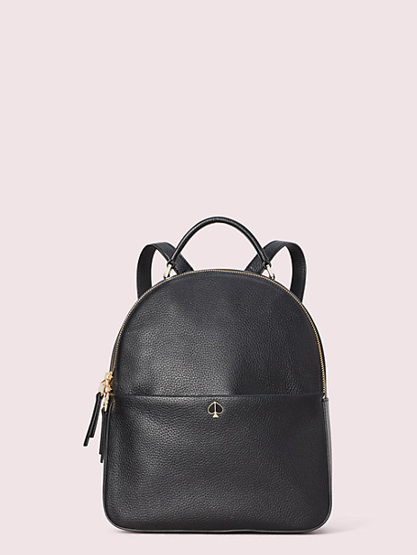 polly medium backpack, black, large by kate spade new york