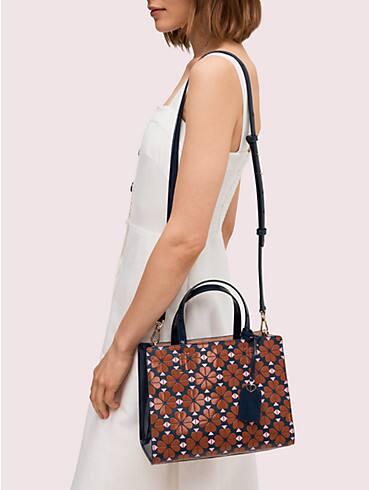 sam spade flower medium satchel, , rr_productgrid
