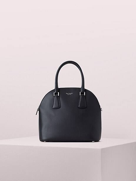 sylvia large dome satchel, black, large by kate spade new york