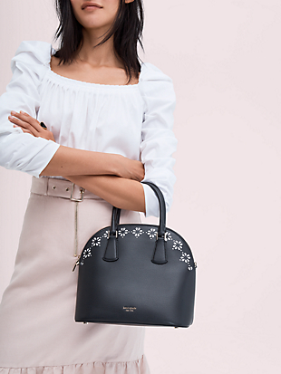 sylvia perforated large satchel by kate spade new york hover view