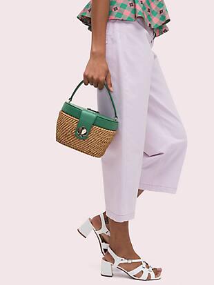 rose medium top handle basket bag by kate spade new york hover view