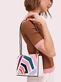 Mittelgroße Amelia Schultertragetasche mit verstellbarem Kettenriemen und Geobrella-Muster, , s7productThumbnail