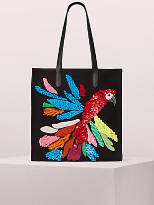 kitt embellished extra large north south tote by kate spade new york non-hover view
