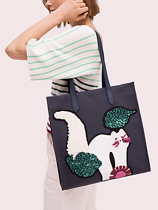kitt embellished extra large north south tote by kate spade new york hover view