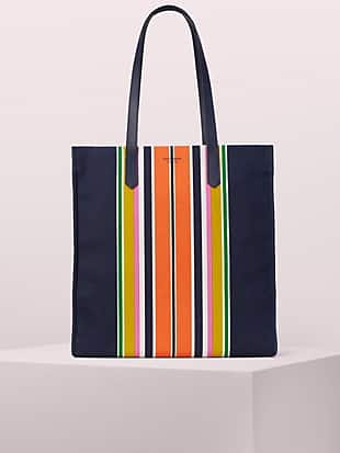 kitt stripe extra large north south tote by kate spade new york non-hover view