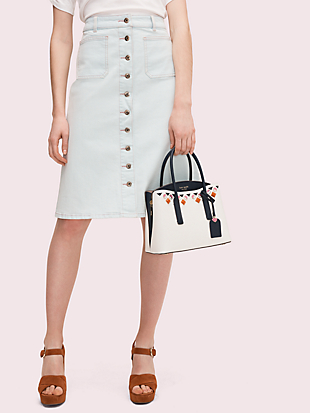 margaux jeweled medium satchel by kate spade new york hover view