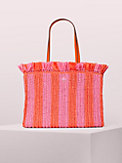 sam stripe straw large tote , , s7productThumbnail