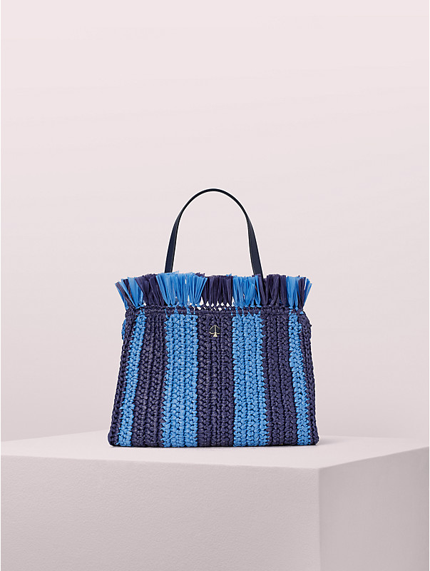 sam stripe straw medium satchel , , rr_large