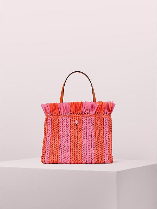 sam stripe straw medium satchel , , rr_large