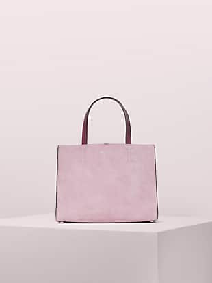sam suede medium satchel by kate spade new york non-hover view