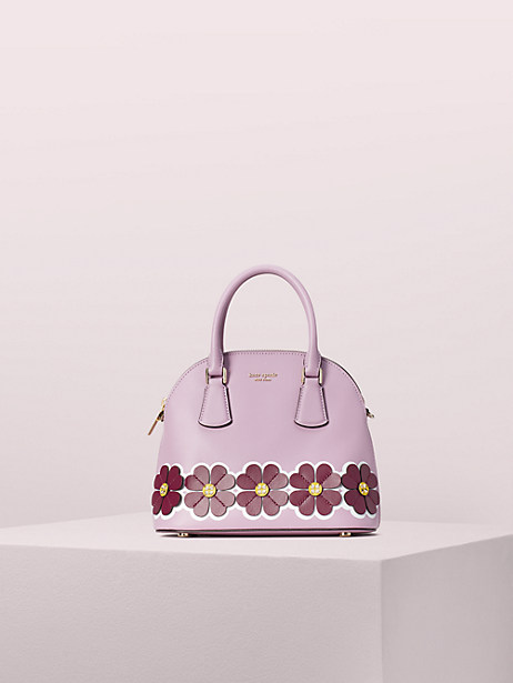 sylvia graphic clover appliqué medium dome satchel by kate spade new york